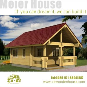 American Country Side Small Prefabricated Wooden House Dy C 122