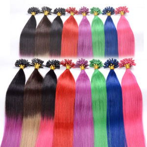 Keratin Hair Extension Straight, U Tip Pre-Bonded Hair Nail Tip Hair pictures & photos