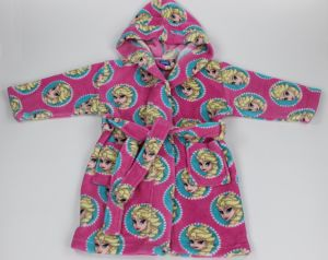 Childre′s Diseny Fronzen Fleece Bathrobe Make of 100%Polyester Coral Fleece