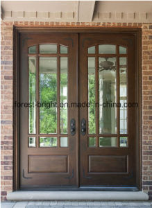 Panel Structure Traditional Solid Wood Double Main Doors pictures & photos