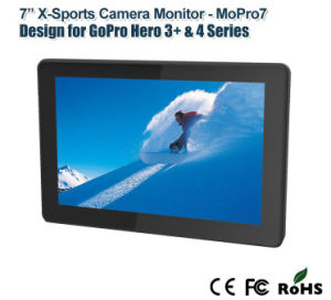 "7"" Gopro X-Treme Sports Camera Monitor with Dual Rear Cover pictures & photos"
