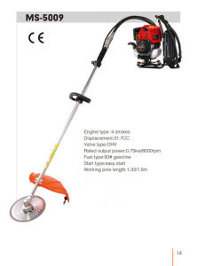 4 Stroke Grass Cutter with 1.5m Working Pole