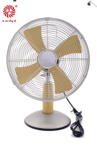 12 Inch Electric Metal Table Fan for Household with Aluminum Blades
