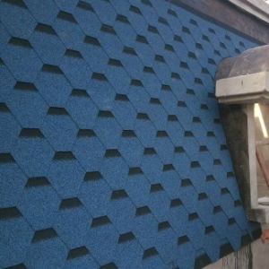 Blue Roofing Tile /Johns Manville Asphalt Shingle /Self Adhesive Roofing Material (ISO) pictures & photos