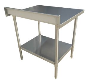 China Stainless Steel Work Table With Backsplash HL China - Stainless steel work table with backsplash