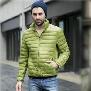 Men Winter Down Jacket Solid Silm Fit Thin Light Clothing pictures & photos
