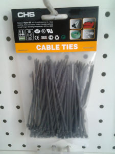 100PCS Black Cable Ties Nylon PA66 pictures & photos
