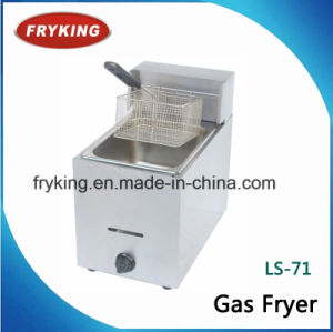 Counter Top Gas Open Fryer for Cooking pictures & photos