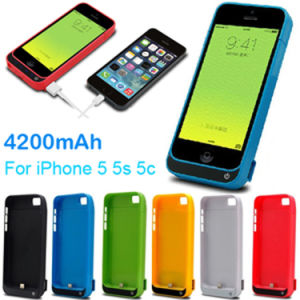 4200mAh Rechargeable Portable Battery Case for iPhone5 with USB Output