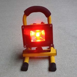 4 Hours Working Time Portable LED Floodlight 10W/20W/30W with Red/Orange Emergency Light