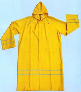 Rain Coat with Reflectiv Tape pictures & photos