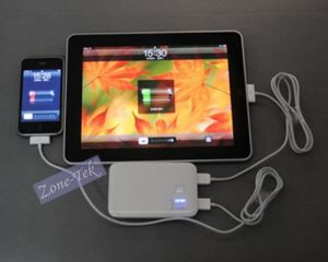 5000mAh External Battery Charger, Power Bank with Dual USB Port iPad/iPhone/iPod