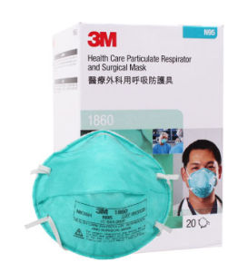 3m 1860 n95 particulate respirator and surgical mask box of 20