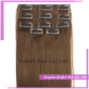 Clip in 100% Unprocessed Natural Human Hair for African Americans pictures & photos
