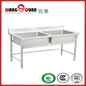 High Quality Stainless Steel Sink with 2 Compartment/ Bowl pictures & photos