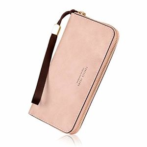 OEM ODM Women′s Long Leather Card Holder Purse Zipper Buckle Elegant Clutch Wallet