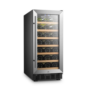 Black Body Single Zone Compact Size Built-in Wine Cooler