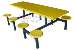 Good Quality Fiberglass Restaurant Table and Chair, Dining Table and Chair, Restaurant Furniture (DT-11) pictures & photos