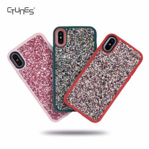 Bling Glitter Pattern Sparkly Handmade Soft TPU Silicone Bumper Cover Case for Apple iPhone X