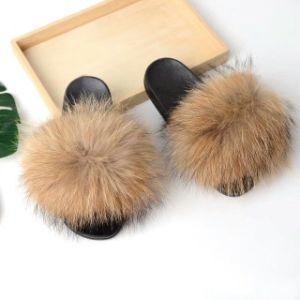 Faux Fur Slippers Sandal Women