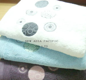 100% Cotton Jacquard Embroidery Towel