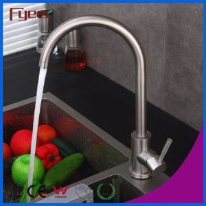 Fyeer Brass Body Nickle Brushed Kitchen Sink Faucet pictures & photos