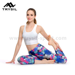 2017 Fashionable Women Sport Leggings Latest Yoga Pants Fitness Pants for Ladies