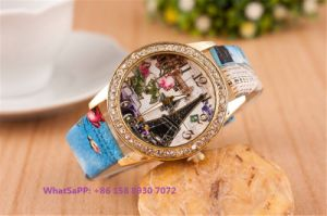 Graceful Lovely Quartz Women′s Watch with Leather Strap Fs664 pictures & photos