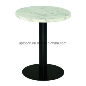 Round Marble Top Table with Metal Base for Restaurant (SP-RT589) pictures & photos