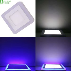 9W Double Color Blue+White LED Panel Lamps pictures & photos