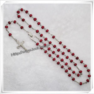 8mm Plastic Rose Shape Beads Rosary for Praying (IO-cr042) pictures & photos