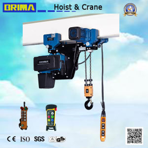 250kg Low Headroom European Electric Chain Hoist with Monorail Trolley pictures & photos