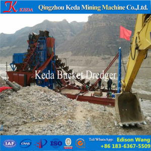 Gold Mining Separator Chain Bucket Dredger pictures & photos