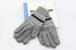 Jacquard Smartphone Gloves for Itouched Screen Function Knitted Men Gloves