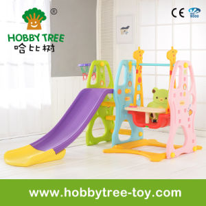 2017 Popular Style Baby Swing with Longger Slide (HBS17025B)