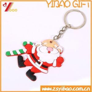 Souvenir Gifts Wholesale Christmas keychain 3D PVC Rubber Keychain Key Ring pictures & photos