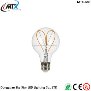 Decorative G80 4W Indoor Use Light Flexible LED Filament Bulb pictures & photos