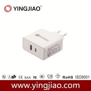 24W Qualcomm 3.0 USB Quick Charger with Type C Pd2.0 pictures & photos