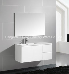 Qilong PVC Bathroom Furniture with Resin Basin pictures & photos