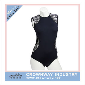 Women Swim Wear Tank Suit with Mesh Fabric pictures & photos