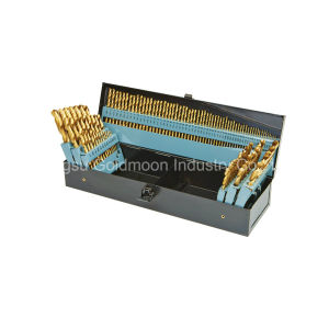 115PCS HSS M2 Fully Ground Titanium Coated Drill Bit Set pictures & photos