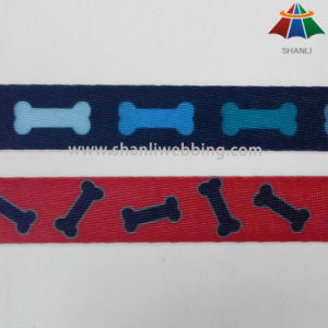 Heat Transfer Spun Polyester Printed Webbing for Pet Accessories