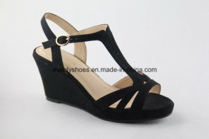 T-Strap High Heel Lady Sandal Shoes with High Heel Sandal pictures & photos