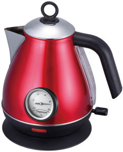 Stainless Steel Cordless Jug Electric Kettle with Thermometer pictures & photos