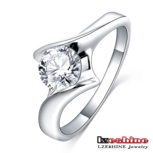 Latest Round Zircon Solitaire Ring Cheap (CRI0393-B)