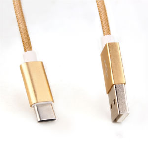 China Factory Nylon Insulated 8 Pin Lightning USB Cable pictures & photos