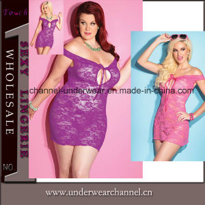 Plus Size Sexy Women Lace Babydoll Chemise (TML8021) pictures & photos