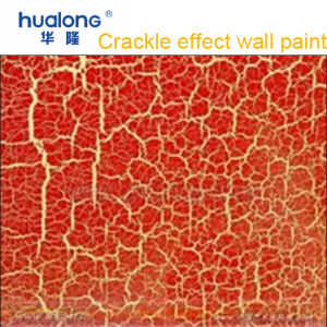 Hualong Luxury Red Crackle Texture Wall Paint pictures & photos
