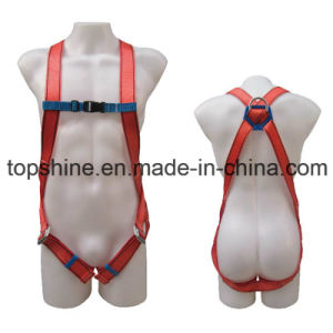 Good Quality Professional Industrial Polyester Adjustable Full-Body Harness Safety Belt pictures & photos