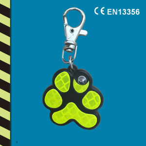 Reflective Yellow Dog′s Paw Hard Hanger with LED Light pictures & photos